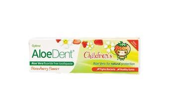 Aloe Dent Toothpaste - Fluoride Free Strawberry (Children) 50ml