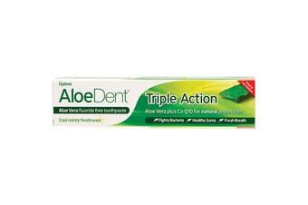 Aloe Dent Toothpaste - Fluoride Free Triple Action 100ml