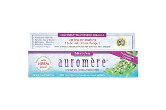 Auromere Toothpaste Ayurvedic Mint Free - Fluoride Free 117g