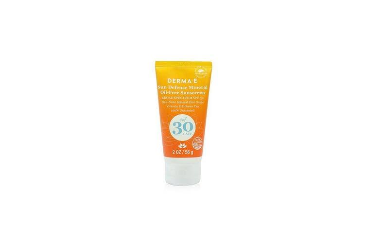 Derma E Sun Defense Mineral Oil-Free Sunscreen SPF 30 Face 56g