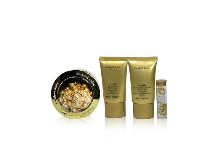 Elizabeth Arden Ceramide Lift & Firm Youth-Restoring Set: ADVANCED Ceramide Capsules 60caps+ Day Cream 15ml+ Night Cream 15ml+ Eye .... 4pcs+1bag
