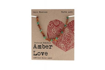 Amber Love Children's Necklace 100% Baltic Amber - Earth Love 33cm