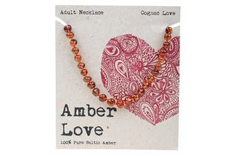 Amber Love Adult's Necklace 100% Baltic Amber - Cognac Love 46cm