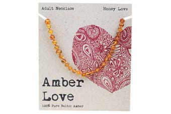 Amber Love Adult's Necklace 100% Baltic Amber - Honey Love 46cm