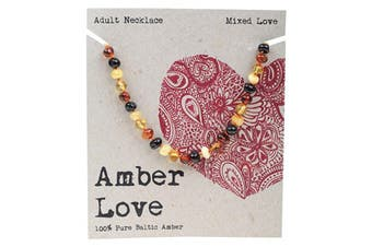 Amber Love Adult's Necklace 100% Baltic Amber - Mixed Love 46cm