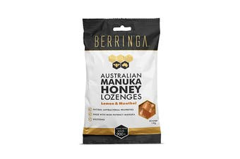 Berringa Australian Manuka Honey Lozenges Lemon & Menthol (made with MGO 900+) x 30 Pack 150g