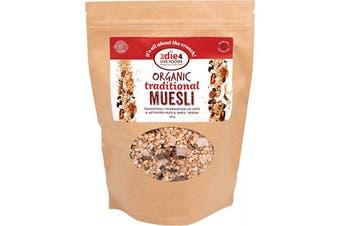 2die4 Live Foods Organic Traditional Muesli 600g