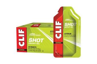Clif Shot Energy Gel Citrus (25mg Caffeine) 24x34g