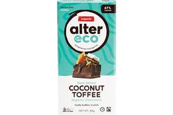 Alter Eco Chocolate (Organic) Dark Salted Coconut Toffee 80g