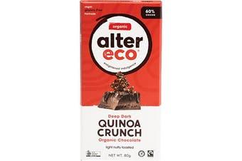Alter Eco Chocolate (Organic) Dark Quinoa Crunch 80g
