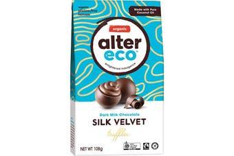 Alter Eco Chocolate (Organic) Dark Milk Silk Velvet Truffles 108g