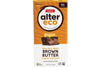 Alter Eco Chocolate (Organic) Dark Salted Brown Butter 80g
