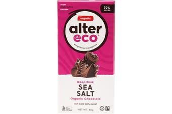 Alter Eco Chocolate (Organic) Dark Sea Salt 80g
