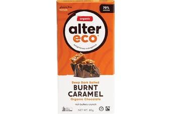 Alter Eco Chocolate (Organic) Dark Salted Burnt Caramel 80g