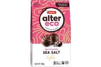 Alter Eco Chocolate (Organic) Dark Sea Salt Truffles 108g