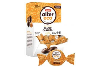 Alter Eco Chocolate (Organic) Salted Caramel Truffles - Display 60x12g