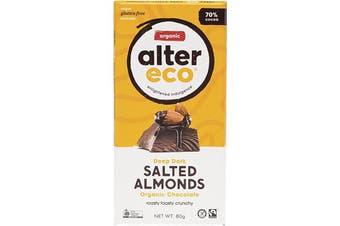 Alter Eco Chocolate (Organic) Dark Salted Almonds 80g