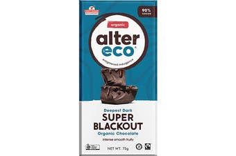 Alter Eco Chocolate (Organic) Dark Super Blackout 75g