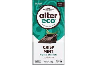 Alter Eco Chocolate (Organic) Dark Crisp Mint 75g