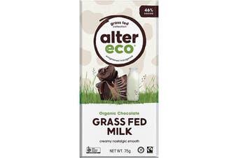Alter Eco Chocolate (Organic) Grass Fed Milk 75g