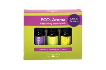 Eco Modern Essentials Aroma Essential Oil Trio Calm & Destress 10ml x 3 Pack