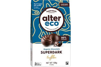 Alter Eco Chocolate (Organic) Superdark Cacao Truffles 108g