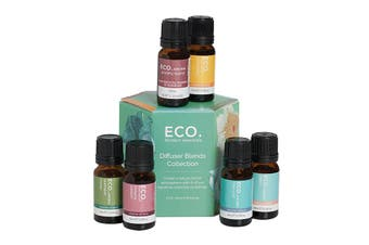 Eco Modern Essentials Aroma Essential Oil Diffuser Blends Collection 10ml x 6 Pack