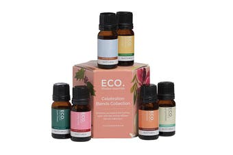 Eco Modern Essentials Aroma Essential Oil Blend Collection Celebration 10ml x 6 Pack