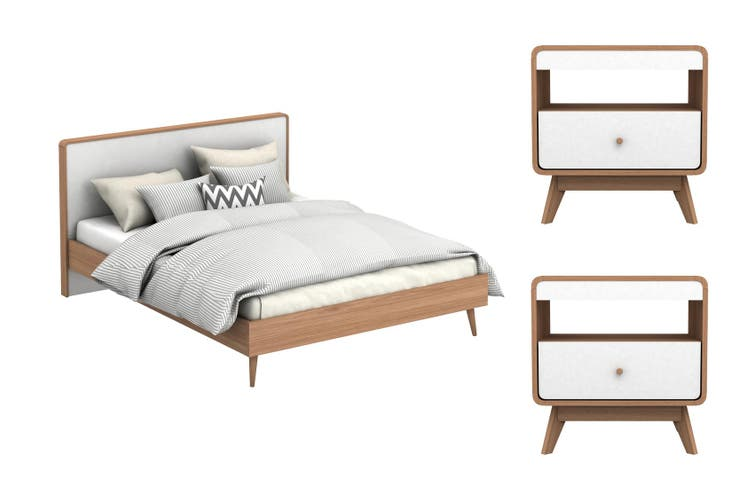 Bedside Tables Bundle Matt Blatt, Queen Bed And Bedside Tables