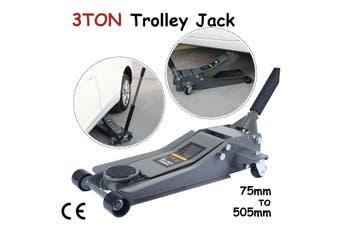 3 Ton Hydraulic Car Trolley Floor Jack Ultra Low Profile Dual Quick Lift Pump Cars, Suv & 4Wd
