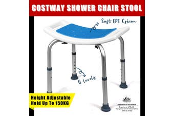 Adjustable Shower Chair Bath Stool Tub Medical Aid Bench Bathroom Seat Soft Pad