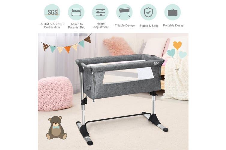 Sleeper Baby Bassinet Cot Crib Bedside Adjustable Height W/Mattress & Carry Bag