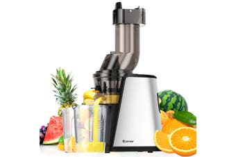 Cold Press Slow Juicer Whole Fruit Vegetable Stainless Steel Processor Mixer Extractor