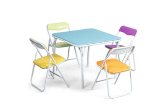 Kids Table and Chairs Set Folding Portable Study Desk Children Activity Furniture