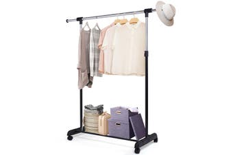 Adjustable Garment Clothes Rack Drying Rack Rolling Poatable Hanger Coat Holder Home Laundry