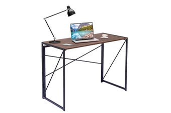 Costway Folding Home/Office Computer Desk, Modern Laptop Table, Writing Study Table, Metal Frame