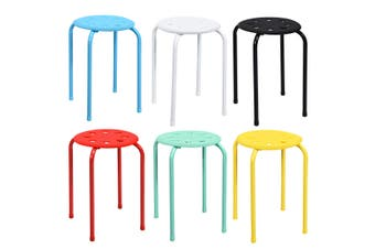 Costway ×6 Modern Metal Barstools Kitchen Bar Stools Stackable Dining Chairs Furniture Set