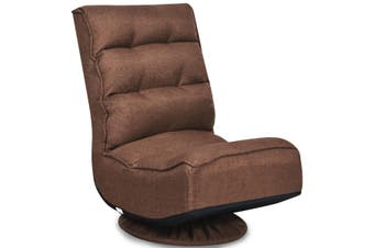 Costway Swivel Lounge Sofa Bed Floor Recliner Folding Chaise Chair Gaming Chair Adjustable Lazy Sofa