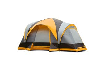 Costway Family Camping Tent - Canvas Dome Swag / 8 Person / Waterproof / Orange
