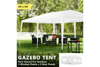 3 x 6M Outdoor Gazebo Wedding Marquee Party Event Tent Canopy Camping White