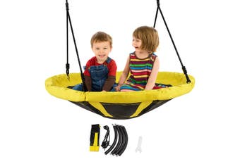 Costway 300KG Load Kids Nest Flying Tree Swing,Round Saucer Seat,Outdoor Garden Yard Play Toys,Yellow