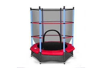 Kids 4.5ft  Round Trampoline w/Enclosure Safety Net Outdoor Jumping Gift