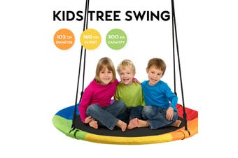 Costway Giant Tree Swing - 100cm / Rainbow / Yard Play Equipment