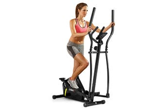 Costway Elliptical Cross Trainer Exercise Bike Bicycle Home Gym Fitness Machine Magnetic Resistance Flywheel