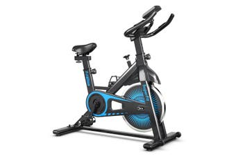 Costway Spin Bike,Belt Drive Cycling Bicycle,Exercise Stationary Bike,Cardio Equipment for Gym Home Fitness Workout,120KG Load,Blue