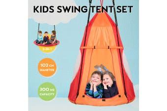 Costway 2 in 1 Tree Swing tent  Outdoor Hammock Chair Kids Children Yard Play Equipment