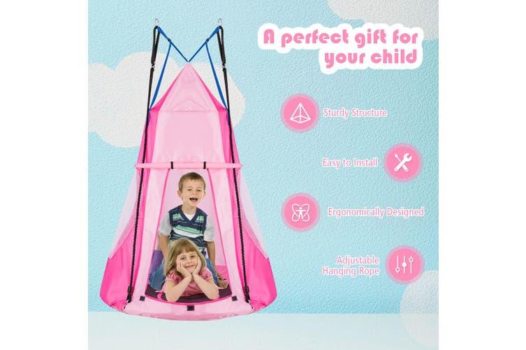 Costway 2 In 1 Tree Swing Tent Outdoor Hammock Chair Kids Children Yard Play Equipment Kogan Com