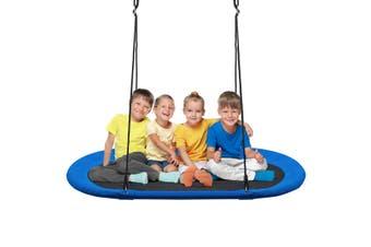 Costway 317KG Load Giant Platform Kids Saucer Tree Swing Set, Oxford Seat Outdoor Garden Yard Play Toy,Blue