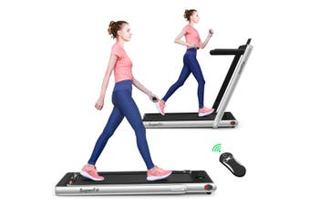 Costway Cardio Electric Treadmill, Folding Running Machine Home Gym Walking Exercise Equipment, Sliver