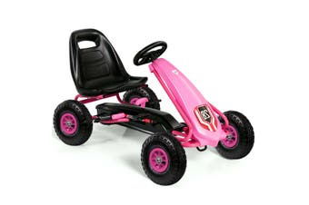 Pedal Power Go Kart Kids Ride-on Car Toys Racing Bike with Shock Resistance Pneumatic Tire